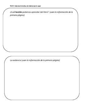 3rd Grade Common Core RL.3.2 Graphic Organizer in SPANISH