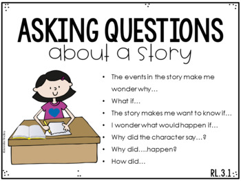 3rd Grade Common Core Reading Sentence Stems Posters