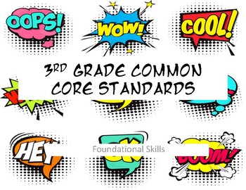 3rd Grade Common Core-Reading Foundations Comic Book Style