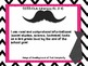 """3rd Grade Common Core Reading - """"I Can"""" Learning Targets - Mustache and Ties"""
