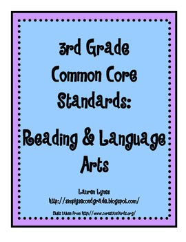 3rd Grade Common Core: Reading & Language Arts
