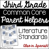 3rd Grade Common Core Reading Literature Parent Helper -also in Spanish