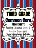 3rd Grade Common Core: Reading Response Sheets/ Graphic Organizers/ Assessments