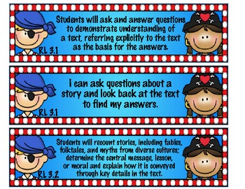 3rd Grade Common Core Reading Standards for Literature and Informational Text