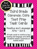 3rd Grade Common Core Reading/LA Standarized Test Prep Task Cards-Set B