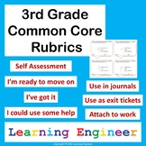 3rd Grade Rubric, Common Core ELA and Math, Self Assessment