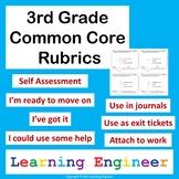 3rd Grade Rubric, 3rd Grade Learning Targets, Self Assessment