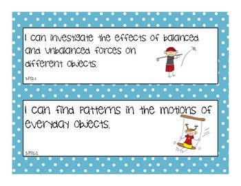 "NGSS ""I Can"" Posters -3rd Grade- use with Next Generation Science Standards"