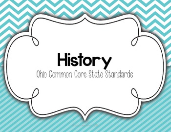 """3rd Grade Common Core Social Studies """"I CAN"""" Statements for OHIO"""