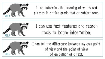 I Can Statements – 3rd Grade Common Core