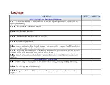 """3rd Grade Common Core Standards - ELA & Math """"Teach & Assess"""" Checklist"""