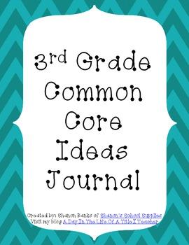 3rd Grade Common Core Standards Journal for Teacher Blue Chevron