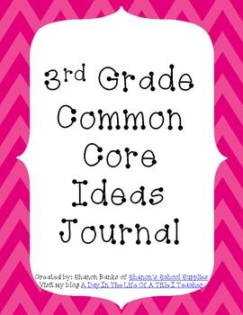 3rd Grade Common Core Standards Journal for Teacher Pink Chevron