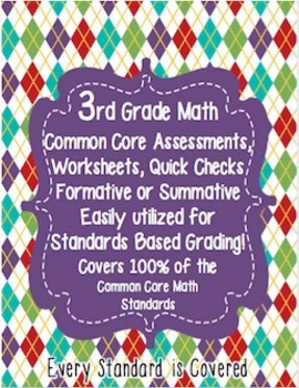 3rd Grade Common Core Standards Math Assessments Third {100% Aligned}