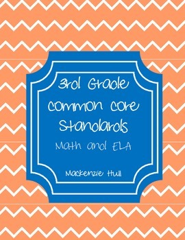 3rd Grade Common Core Standards Reference