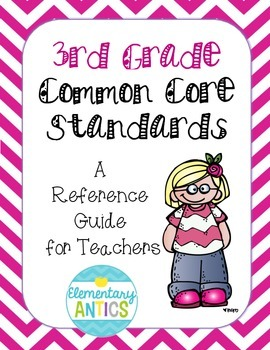 3rd Grade Common Core Standards Reference Guide