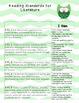 3rd Grade Common Core Standards Teaching Checklist