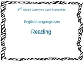 3rd Grade Common Core Standards for Reading ELA
