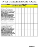 3rd Grade Common Core Standards (w/ CA additions) Checklist: Math
