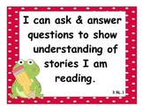 3rd Grade Common Core State Standard: Language Arts I Can Statements w/ Frogs