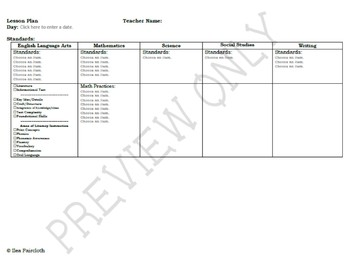 3rd Grade Common Core State Standards (CCSS) Lesson Plan