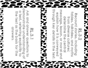 3rd Grade Common Core State Standards: English Language Arts- Cheetah Print