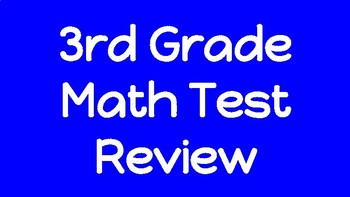 3rd Grade Common Core State Testing Review