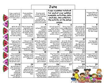 3rd Grade Common Core- Summer Calendar 2013