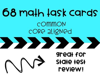 Math Task Cards For Math Centers, Test Prep, Early Finishe