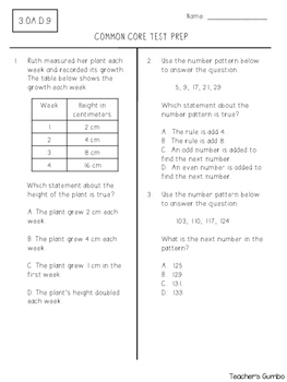 Free Test Prep Assessments - 3rd Grade