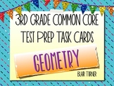 3rd Grade Common Core Test Prep Task Cards - GEOMETRY