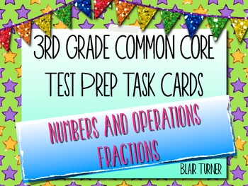 3rd Grade Common Core Test Prep Task Cards - NUMBER AND OP