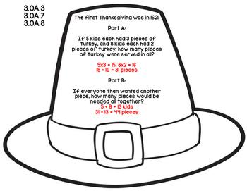 3rd Grade Common Core Thanksgiving Math Assessment Task