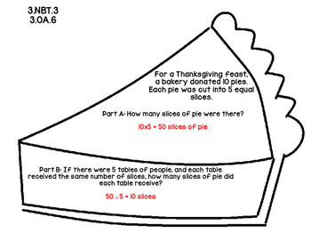 3rd Grade Common Core Thanksgiving Math Assessment Task