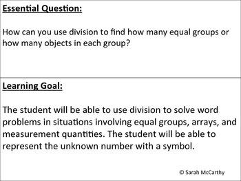 3rd Grade Common Core Understanding Division Unit (Rigorous)