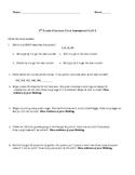 3rd Grade Common Core Unit 2 Test
