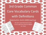 3rd Grade Common Core Vocabulary Words with Definitions