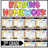 3rd Grade Reading Homework BUNDLE | Reading Comprehension Review