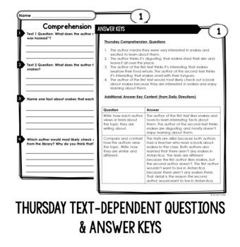 3rd Grade Reading Homework BUNDLE   Reading Comprehension Review