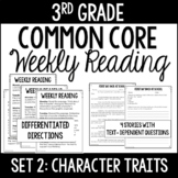 3rd Grade Reading Review   Set 2: Character Traits   Commo