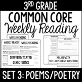 3rd Grade Reading Review | Set 3: Poems/Poetry | Common Core Aligned