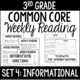 3rd Grade Common Core Weekly Reading Review {Set 4: Informational Text}