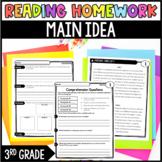 3rd Grade Reading Review   Set 5: Main Idea   Common Core Aligned
