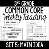 3rd Grade Reading Review | Set 5: Main Idea | Common Core Aligned