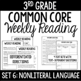 3rd Grade Reading Review | Set 6: NonLiteral Language/Idio
