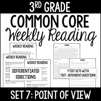 3rd Grade Common Core Weekly Reading Review {Set 7: Point of View}