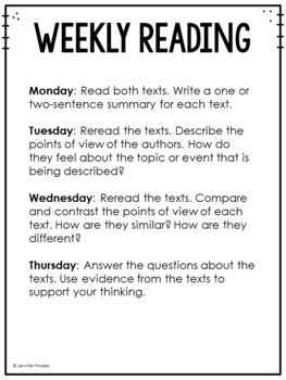3rd Grade Reading Review | Set 7: Point of View | Common Core Aligned