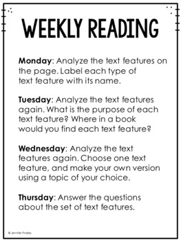 3rd Grade Common Core Weekly Reading Review {Set 8: Text Features}