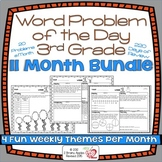 Word Problems 3rd Grade Bundle, Spiral Review, Distance Learning