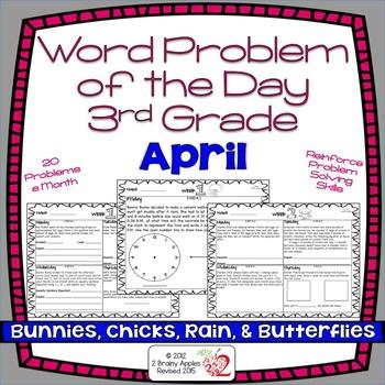 Word Problems 3rd Grade, April